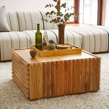 west elm wood coffee table levanzo coffee table with concrete table top with acacia wood frame