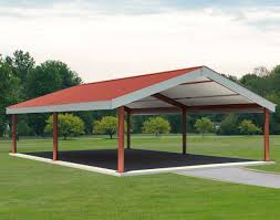steel i beam single roof savannah rectangle pavilions