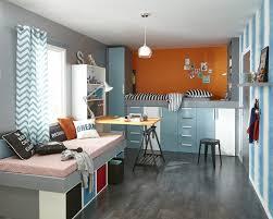 photo de chambre d ado un lit sur des meubles de rangement pour la chambre d ado leroy merlin