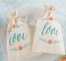 muslin favor bags bags floral picture more detailed picture about free shipping