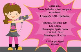 laser tag birthday party invitations