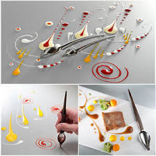 deco spoon deco spoon decorate food draw design sauce dressing plate dessert