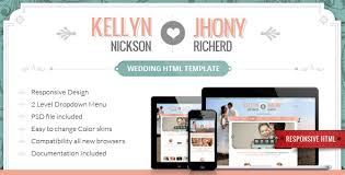 Marriage Invitation Websites 20 Free U0026 Premium Wedding Html Website Templates