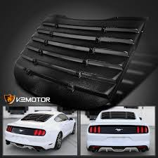 mustang louver 2015 2017 ford mustang black rear window louver cover vintage