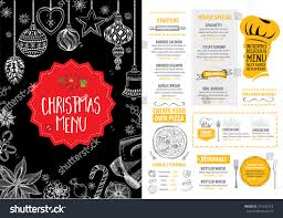 free xmas menu templates guest list sample download free flyer