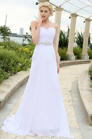 simple wedding dresses sleeveless a line beading chiffon sweetheart floor length simple
