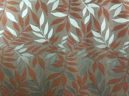 Upholstery Fabric For Curtains Terracotta Leaves Floral Home Decor Italian High End Designer
