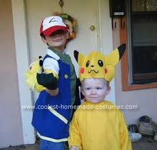 Baby Toddler Boy Group Costumes Coolest Homemade Pokemon Pikachu Ash Group Costume Pikachu