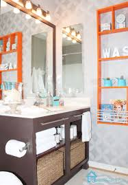 citrus orange pink grey bathroom decorating ideas orange and grey