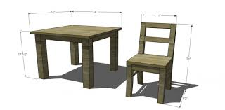 Free Plans For Outdoor Table And Chairs by Free Diy Furniture Plans To Build A Pottery Barn Kids Inspired My