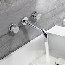 contemporary wall mounted waterfall with ceramic valve two holes
