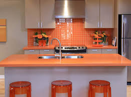 orange kitchen ideas kitchens with color orange tiletr