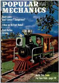 Plans To Build A Wooden Toy Train by Riding Backyard Toy Train From 1965 Popular Mechanics Magazine