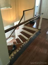 Staircase Laminate Flooring Upstairs Hallway 2 Hardwood Spindles
