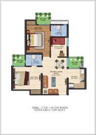 study room floor plan ajnara le garden floor plan noida extension greater noida west