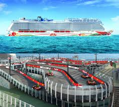 galaxy ferrari cruise ship norwegian joy will have a ferrari branded racetrack on
