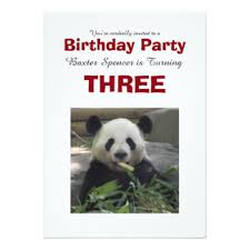 panda bear birthday invitations u0026 announcements zazzle