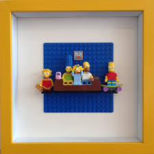 unique figure wall art for lego simpsons framed wall art minifigures easy to recreate
