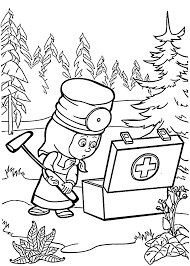 masha and bear doctor coloring pages for kids printable free