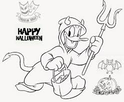printable evil donald duck halloween coloring pages