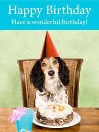 happy dog birthday card birthday u0026 greeting cards by davia