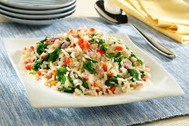 myplate brown rice with vegetables