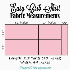 Crib Bed Skirt Measurements Pinspired Home Easy And Adjustable Diy Crib Skirt
