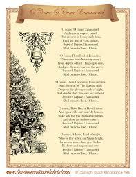 printable lyrics o come o come emmanuel lyrics tim s printables
