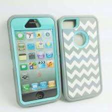 light blue iphone 5c case deluxe chevron wave hybrid rubber silicone cover case for iphone 5 5s