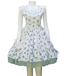 round collars blue flowers country dress 67 99 cotton