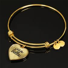 heart charm bangle bracelet images Gold ciao bella with heart charm bangle p s i love italy png