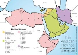 map middle east uk the four dioceses jmeca