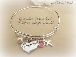 godmother bracelet baptism godmother personalized stainless steel bangle bracelet