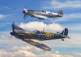 supermarine spitfire pair with clouds wall mural supermarine save your design for later