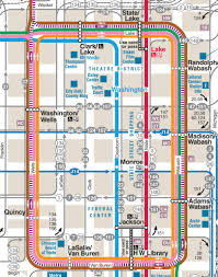 Chicago Metra Map by Public Transportation 120 North Lasalle