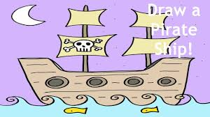 how to draw a pirate ship step by step easy drawing lesson for