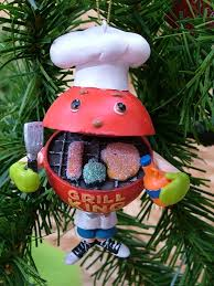 barbecue weber style bbq grill king ornament ebay