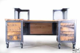 reclaimed wood u0026 steel reception desk u2013 real industrial edge