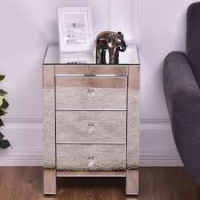 3 drawer end table costway rakuten costway mirrored nightstand 3 drawer modern