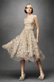tea length wedding dresses flare