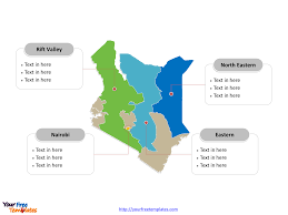 Kenya Blank Map by Free Kenya Editable Map Free Powerpoint Templates