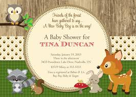 woodland baby shower invitations woodland creatures baby shower invitations lilbibby