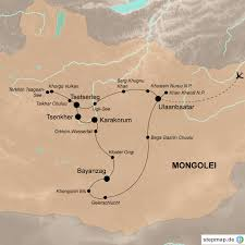 Karakorum On Map Im Reich Des Dschingis Khan Mongolei Rundreise World Insight