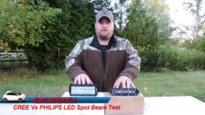 auxbeam light bar review cree vs philips led comparison and review auxbeam youtube