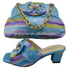 wedding shoes and bags new arrival design colorful italian shoes and bags to match women