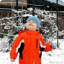 winter train play snow