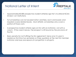 College National Letter Of Intent College Recruiting Part 1 Ncaa Eligibility Nli