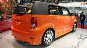 scion cube custom car new tokyo show scion xb toyota corolla rumion concept