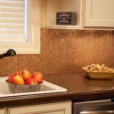 kitchen room magnificent copper mosaic tile backsplash brushed