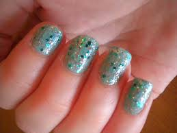 glittery crackle nails lidtastic